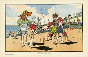Playing on the Beach by Charles Robinson