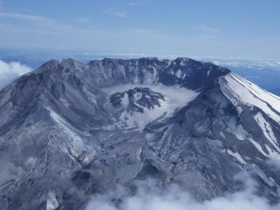 Aerial View of Mt. St. Helens Crater and its Lava Dome, Cascade Mountains, Washington, USA