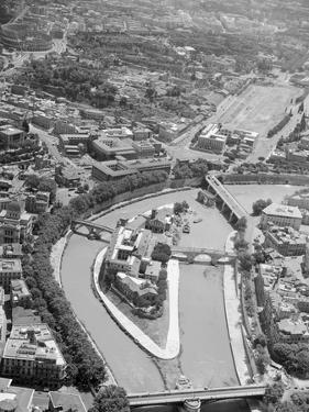 Aerial View of Isola Tiberina, Looking South by Charles Rotkin