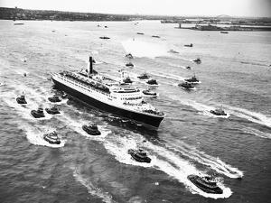 Cruise Ship Entering New York's Harbor by Charles Rotkin