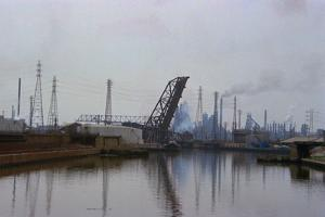 Lake Erie Polluted Waterway by Charles Rotkin
