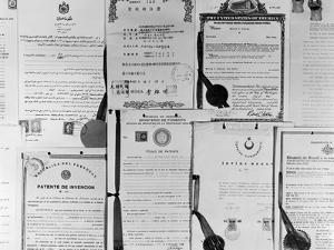 Patent Certificates by Charles Rotkin