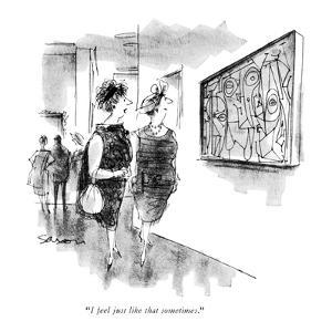 """""""I feel just like that sometimes."""" - New Yorker Cartoon by Charles Saxon"""