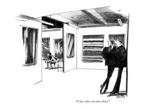 """""""I hate these one-man shows."""" - New Yorker Cartoon by Charles Saxon"""