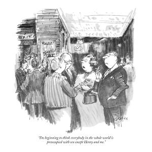 """""""I'm beginning to think everybody in the whole world is preoccupied with s?"""" - New Yorker Cartoon by Charles Saxon"""