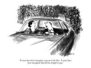 """""""It must have been moonglow way up in the blue.  It must have been moonglo…"""" - New Yorker Cartoon by Charles Saxon"""