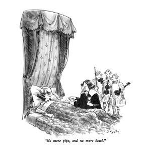 """No more pipe, and no more bowl."" - New Yorker Cartoon by Charles Saxon"