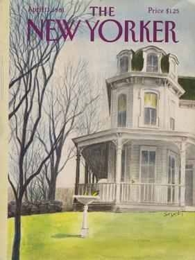 The New Yorker Cover - April 13, 1981 by Charles Saxon