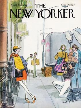 The New Yorker Cover - April 21, 1980 by Charles Saxon