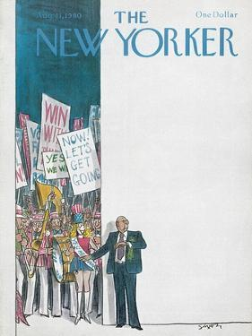 The New Yorker Cover - August 11, 1980 by Charles Saxon