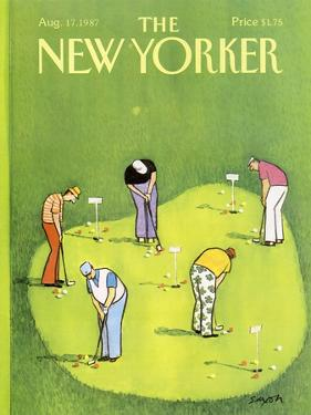 The New Yorker Cover - August 17, 1987 by Charles Saxon