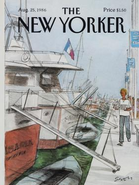 The New Yorker Cover - August 25, 1986 by Charles Saxon