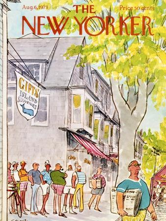 The New Yorker Cover - August 6, 1973