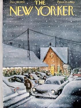 The New Yorker Cover - December 19, 1959 by Charles Saxon