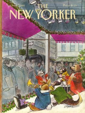 The New Yorker Cover - December 7, 1981 by Charles Saxon