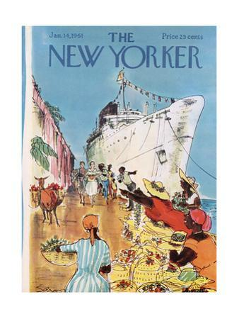 The New Yorker Cover - January 14, 1961 by Charles Saxon