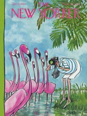 The New Yorker Cover - January 15, 1972 by Charles Saxon