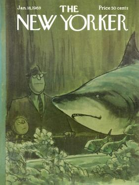 The New Yorker Cover - January 18, 1969 by Charles Saxon