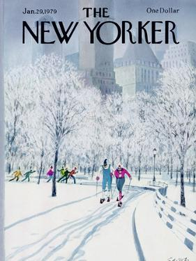 The New Yorker Cover - January 29, 1979 by Charles Saxon