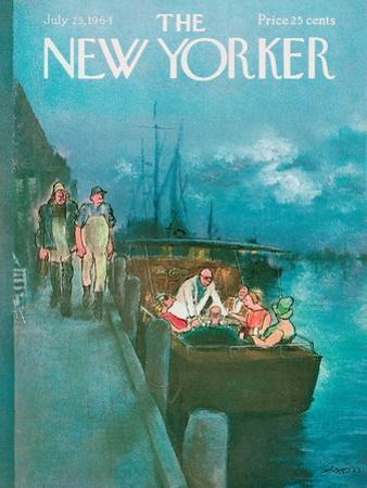 The New Yorker Cover - July 25, 1964 by Charles Saxon