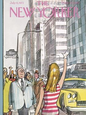 The New Yorker Cover - July 8, 1972 by Charles Saxon
