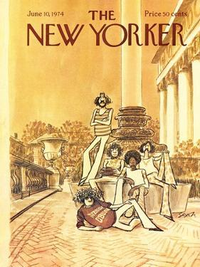 The New Yorker Cover - June 10, 1974 by Charles Saxon