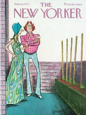 The New Yorker Cover - June 16, 1975 by Charles Saxon