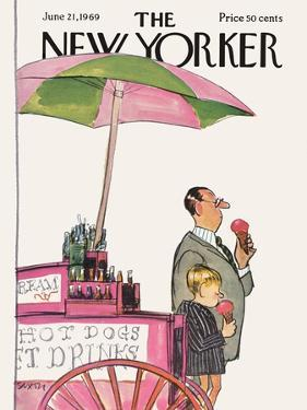 The New Yorker Cover - June 21, 1969 by Charles Saxon