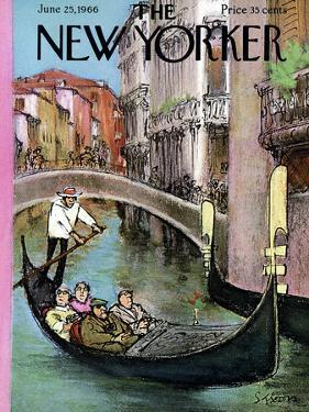 The New Yorker Cover - June 25, 1966 by Charles Saxon