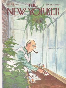 The New Yorker Cover - March 11, 1967 by Charles Saxon