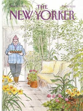 The New Yorker Cover - March 11, 1985 by Charles Saxon
