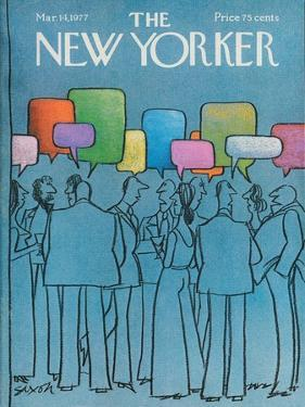 The New Yorker Cover - March 14, 1977 by Charles Saxon