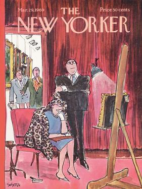 The New Yorker Cover - March 29, 1969 by Charles Saxon