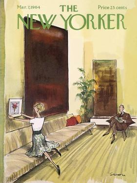 The New Yorker Cover - March 7, 1964 by Charles Saxon