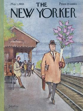 The New Yorker Cover - May 1, 1965 by Charles Saxon