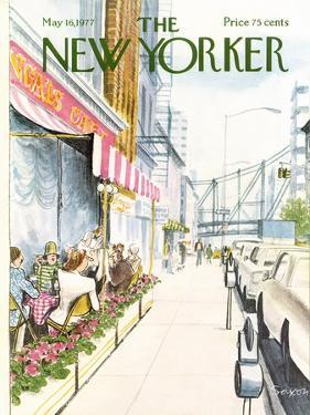 The New Yorker Cover - May 16, 1977 by Charles Saxon