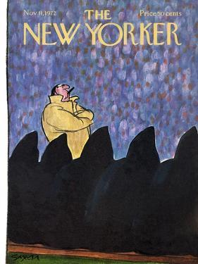 The New Yorker Cover - November 11, 1972 by Charles Saxon