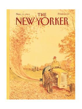 The New Yorker Cover - November 11, 1985 by Charles Saxon