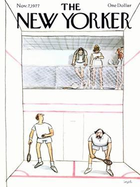 The New Yorker Cover - November 7, 1977 by Charles Saxon