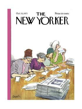 The New Yorker Cover - October 15, 1973 by Charles Saxon
