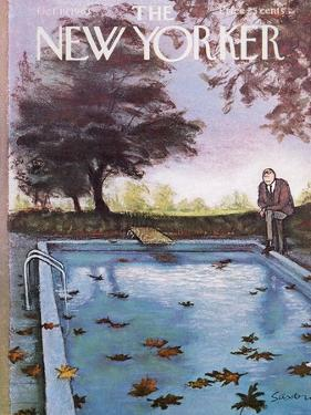 The New Yorker Cover - October 19, 1963 by Charles Saxon