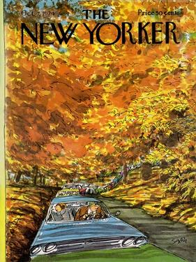 The New Yorker Cover - October 7, 1974 by Charles Saxon