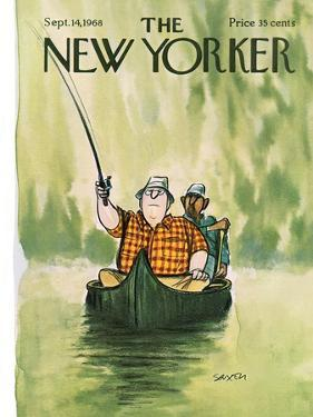 The New Yorker Cover - September 14, 1968 by Charles Saxon