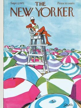 The New Yorker Cover - September 2, 1972 by Charles Saxon