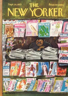 The New Yorker Cover - September 24, 1973 by Charles Saxon