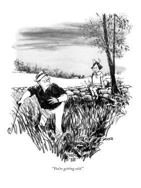 """""""You're getting cold."""" - New Yorker Cartoon by Charles Saxon"""