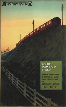 London Underground: Light , Power and Speed, 1915 by Charles Sharland