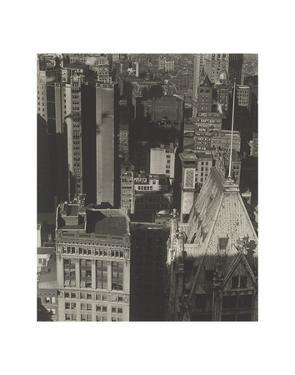 New York, Temple Court, distant view, Negative date: 1920 by Charles Sheeler