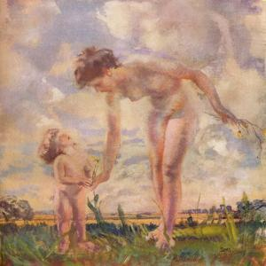 'The Big Sister', c20th century by Charles Sims