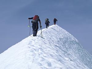 Climbers on Eldorado Peak, North Cascades National Park, Washington, USA by Charles Sleicher